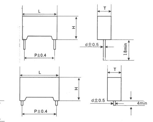 MKP82塑料外壳双面金属化聚丙烯膜电容器