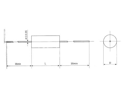 CLS20轴向金属化聚碳酸酯膜电容器