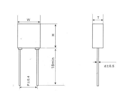 CLS22塑料外壳小型金属化聚碳酸酯膜电容器