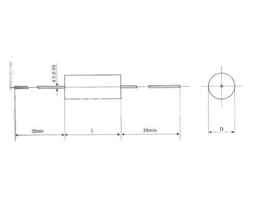 CBF10聚四氟乙烯膜电容器