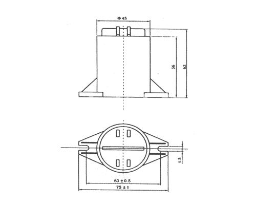 CBB80A高压交流金属化聚丙烯膜电容器