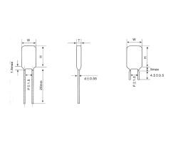 CL11 有感箔式聚酯膜电容器