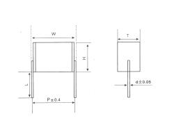 CL25 无外壳封装聚酯膜叠片式电容器