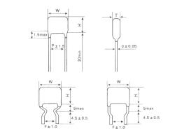 CL21 环氧粉末封装金属化聚酯膜电容器