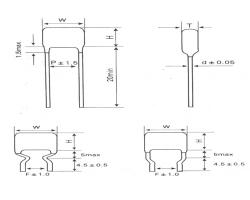 CL21X 环氧粉末封装小型金属化聚酯膜电容器