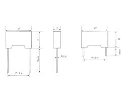 CL233 塑料外壳封装金属化聚酯膜电容器