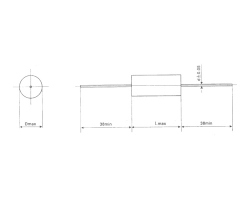CBB20 轴向金属化聚丙烯膜电容器