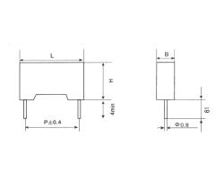 CBB112塑料外壳金属化箔式聚丙烯膜电容器
