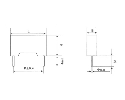 CBB111塑料外壳高压金属化聚丙烯膜电容器