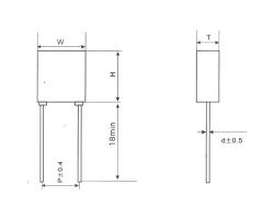 杭州CLS22塑料外壳小型金属化聚碳酸酯膜电容器