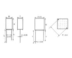 CBB71A/B金属箔式聚丙烯膜精密电容器