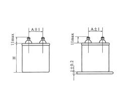 CJ40立式密封金属化纸介电容器