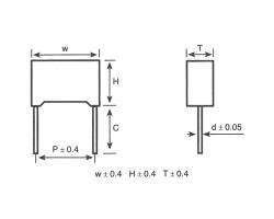 MKP65塑壳金属化聚丙烯膜抗干扰电容器