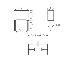 MKP62+R塑壳外壳封装金属化聚丙烯膜抗干扰电容器