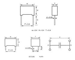 MKP62塑壳外壳封装金属化聚丙烯膜抗干扰电容器