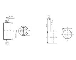 CBB60金属化聚丙烯膜交流电动机电容器
