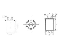 CBB65金属化聚丙烯膜交流电动机电容器