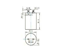CBB102金属化聚丙烯膜固定电容器