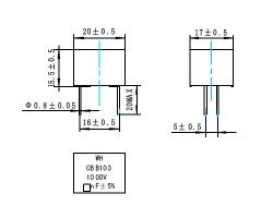 CBB101/103金属化聚丙烯膜固定电容器