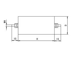 CBB80D高压交流金属化聚丙烯膜电容器