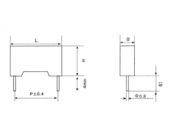 Mkp21 plastic shell encapsulated metallized polypropylene film capacitor