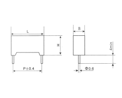Cbs21 plastic shell metallized polyphenylene sulfide film capacitor