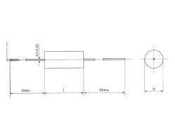 Cbs20 axial metallized polyphenylene sulfide film capacitor